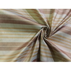 """100% silk dupion  fabric multi color stripe DUPNEWS1[3] 54"""" wide sold by the yard"""