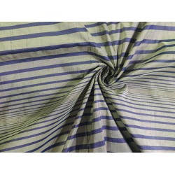 """100% silk dupion  fabric stripe grey and blue  DUPNEWS1[6] 54"""" wide sold by the yard"""