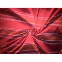 """100% silk dupion  fabric STRIPES  RED   DUPNEWS3[3] 54"""" wide sold by the yard"""