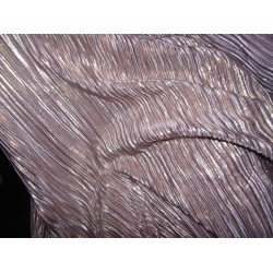Pleated lurex Fabric LAVENDER pink x gold color 58'' Wide FF1[15]