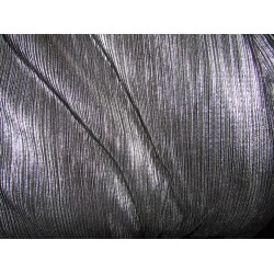 Pleated lurex Fabric BLACK X SILVER color 58'' Wide FF1[14]