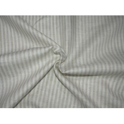 """100%  Linen fabric 60s lea ~ brown /ivory stripe -58"""" wide by the yard"""