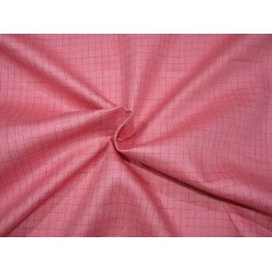 """100%  Linen fabric 60s lea ~ pink plaids -58"""" wide by the yard"""
