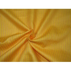 """100%  Linen fabric 60s lea ~ mango and mustard stripe -58"""" wide by the yard"""
