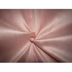 """100% Pure SILK Dupioni FABRIC PASTEL PEACH  color 54"""" with slubs*MM95[5] by the yard"""