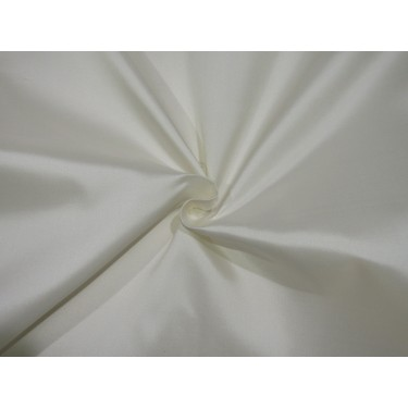 """100% SILK TAFFETA fabric white ivory TWILL WEAVE 40 MOMME  58"""" wide TAF5 by the yard"""