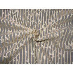 54 INCHES WIDE~ organza fabric beautiful  embroidery on jacquard stripe