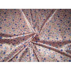 luxurious satin  print pastel pink 58'' wide by the yard [roll]
