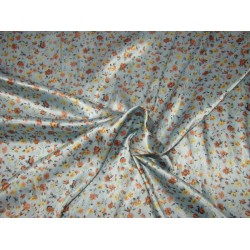 luxurious satin  print pastel blue 58'' wide by the yard [roll]