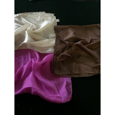 3 100% silk scarves for painting/dyeing  50 X 50 centimetres square @ 21$