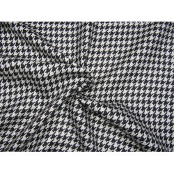 """woolen fabric hounds tooth black and white  58"""" wide"""