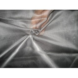Black/ white  silk organza fabric 54""