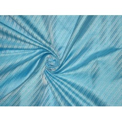 SILK BROCADE FABRIC Baby Blue color 44""
