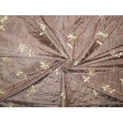grape chocolate brown silk taffeta computerised embroidered*