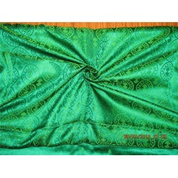 100% Pure silk brocade fabric vestment Green color bro365[6]
