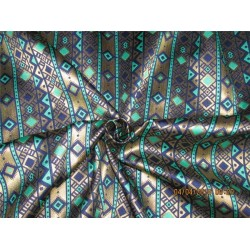 Brocade fabric navy green x metallic gold color 56'' BRO561[1]