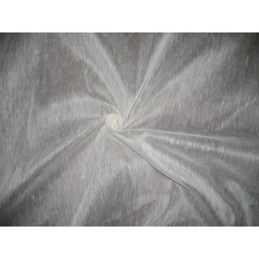 """off White  silk organza / linen fabric 54"""" wide sold by the yard"""