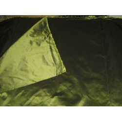 100% Pure SILK TAFFETA FABRIC African green shot