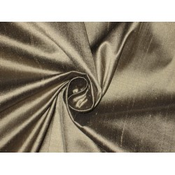 Pure SILK Dupioni FABRIC Ash color