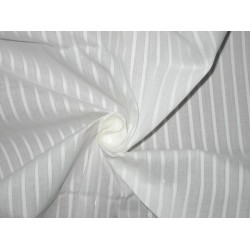 White cotton organdy fabric dobby design 44 inches by the yard