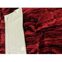 crushed velvet fabric-RED WINE color