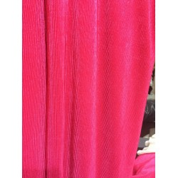 Crushed polyester satin fabric BRIGHT PINK  color 59''wide FF11[9]