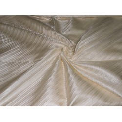 SILK viscose SILK BROCADE FABRIC rich cream color 44""