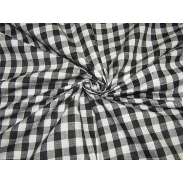 100% Cotton Yarn Dyed CheckS Mill Made 58'' wide black x white