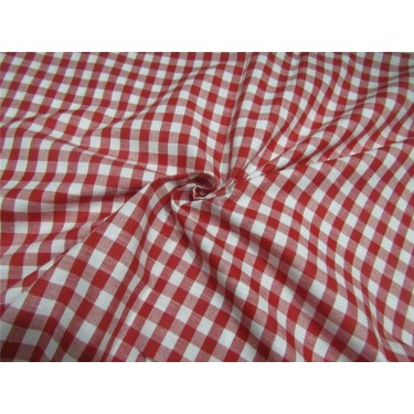 100% Cotton Yarn Dyed Checks Mill Made 58'' wide red x white