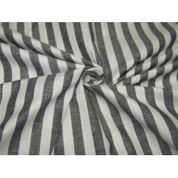 100% Cotton Yarn Dyed Stripe Mill Made 58'' wide black x white