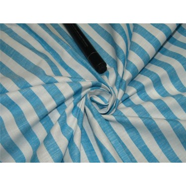 100% Cotton Yarn Dyed Stripe Mill Made 58'' wide blue x white