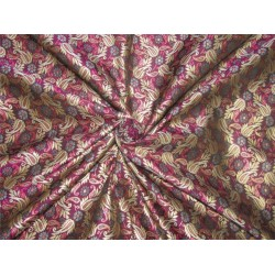 "Brocade fabric Aubergine x metallic Gold Color 44""BRO596[4]"