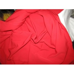 "Scuba Crepe Stretch Jersey Knit Dress fabric 58"" fashion Red color B2 #85[5]"