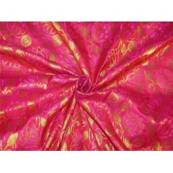 "Brocade fabric red ,pink x metallic Gold 44""BRO599[1]"