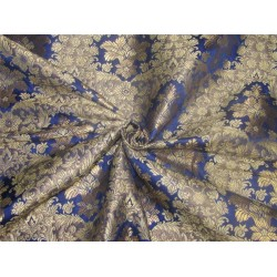 Heavy Brocade fabric navy x metallic gold color BRO595[1]