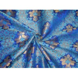 Heavy Brocade fabric royal blue x metallic gold color BRO595[2]