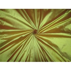 """100% Silk Dupion fabric iridescent lime green x orange color 54""""wide DUP#258[1]"""
