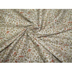 "100% COTTON SATIN 58""ivory &brown Color print USING DISCHARGE PRINTING METHOD"