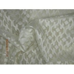 "silk organza natural ivory Jacquard color 44""width/4"