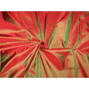 "100% Pure Silk Taffeta Fabric Red x green color  TAF#290[5] 54"" wide sold by the yard"