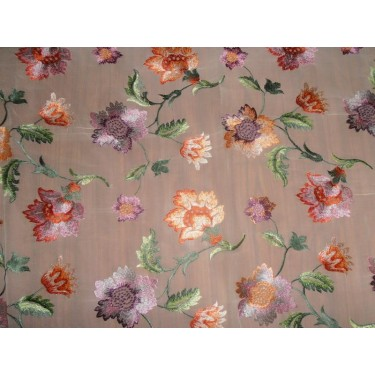 """100%SILK georgette heavily embroidered 44"""" B2#89[6]"""
