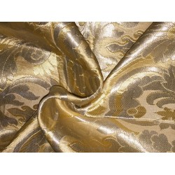 Pure gold color Silk Brocade Fabric pure Gold color BRO115[4] by the yard