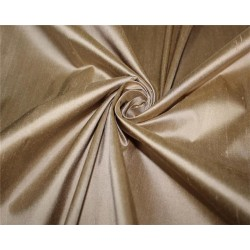 "100% pure silk Dupioni fabric dark beige color 54""  wide DUP#263[3] sold by the yard"
