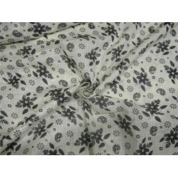 Cotton fabric plaids printed ivory x grey color 44'' wide