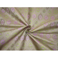 "Silk Brocade fabric  lavender and green   BRO731[4]  44 ""   by the yard"