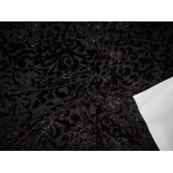 """devore Polyester  burnout black  Velvet fabric -44"""" wide by the yard"""