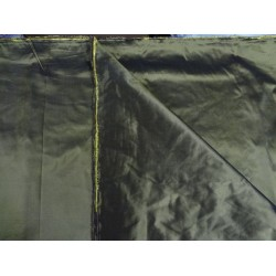 "silk taffeta ""ribbed"" fabric-54"" wide{40 mm}*forest green x yellow"
