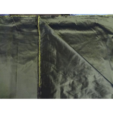 """silk taffeta """"ribbed"""" fabric-54"""" wide{40 mm}*forest green x yellow-54"""" wide sold by the yard"""