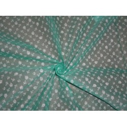 Cotton organdy floral printed fabric Sea Green Color 44 inches by the yard