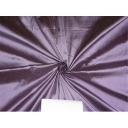 PURE SILK DUPIONI DARK LAVENDER X BLACK